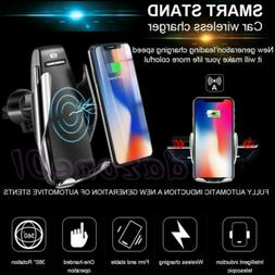 Smart Automatic Clamping Wireless Car Charger Infrared Auto-