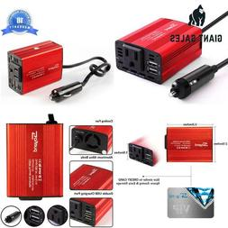 Soyond 1 Red 150W Car Power Inverter Dc 12V To 110V Ac Conve