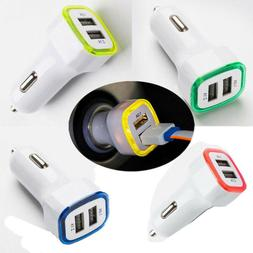 Universal Accessories Car Charger  Dual Usb 2-port 2.1a/1.0a