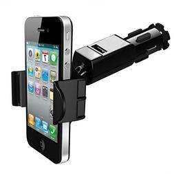 Car Mount DC Socket Holder 1.5A Charging USB Port compatible