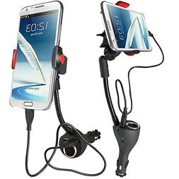 DAXXIS Universal Car Mount with 2 Rapid USB Chargers, Cigare