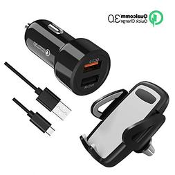 USB C Car Charger, 48W Quick Charge 3.0 Dual Ports Car Charg