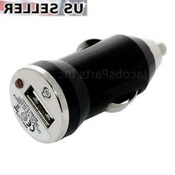 White Universal USB Mini Car Charger Adapter