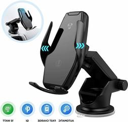 ✅Wireless Car Charger 15W Qi Fast Charging Auto-Clamping C