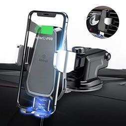andobil Wireless Car Charger Mount, Automatic 10w Qi Fast Ch