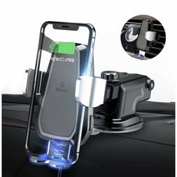 Wireless Car Charger Mount Auto Clamping 7.5w/10w Fast Charg