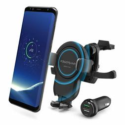 RAVPower Wireless Charger Car Mount Power Fast Charge Phone