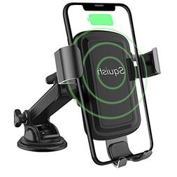 Squish Wireless Charger Car Phone Mount Dashboard Windshield