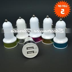 x5 usb car charger fast 1a 2a